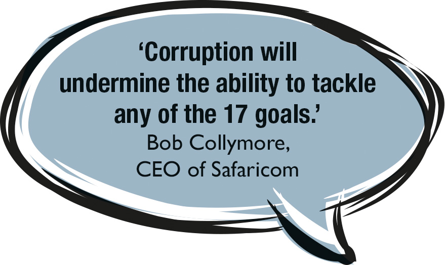 Corruption undermines the ability to tackle SDGs